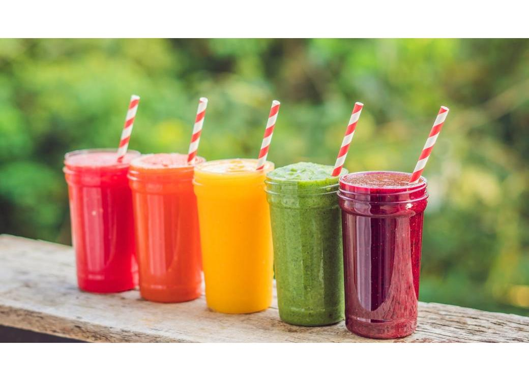 A Rainbow Of Smoothies